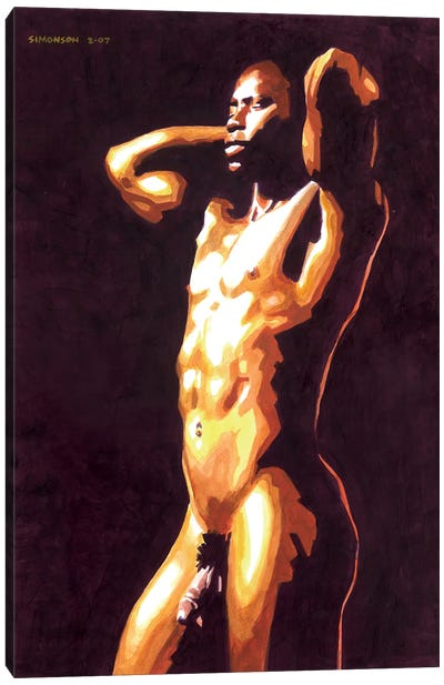 Gilded Canvas Art Print