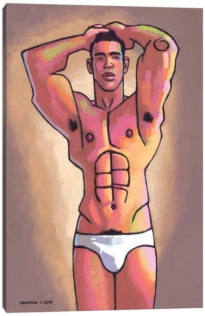 Ben In Briefs Canvas Art Print