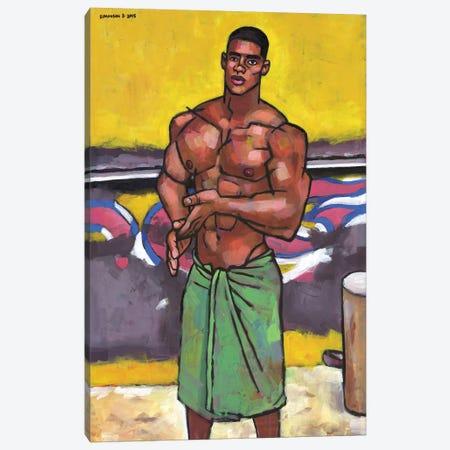 By The Old Beach Kiosk Canvas Print #DSS11} by Douglas Simonson Canvas Artwork