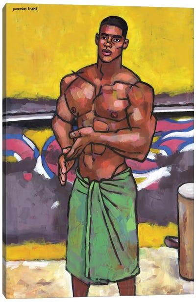 By The Old Beach Kiosk Canvas Art Print