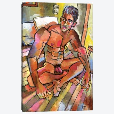 Camilo In The Bedroom Canvas Print #DSS13} by Douglas Simonson Canvas Wall Art
