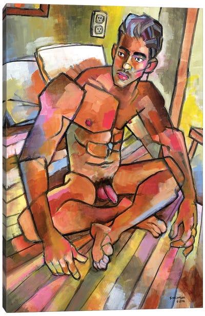 Camilo In The Bedroom Canvas Art Print