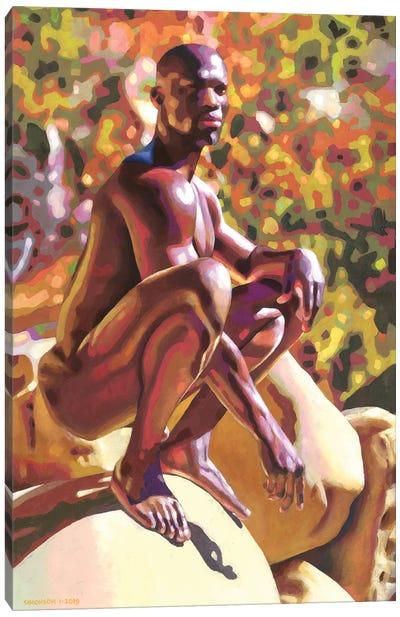 Chadwick In The Desert Canvas Art Print