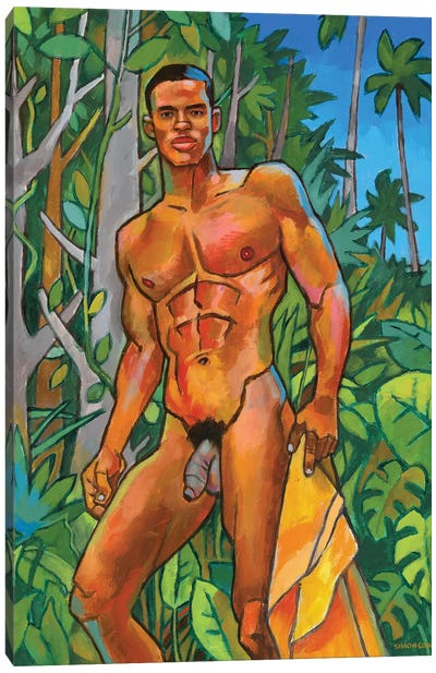 Coastal Jungle Canvas Art Print