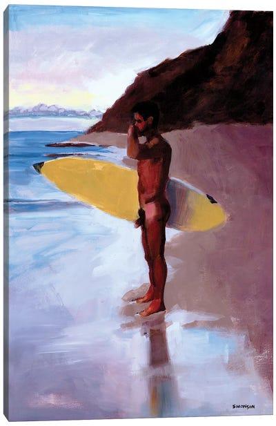 Dawn Surfer Canvas Art Print