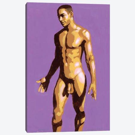 Afro-Brazilian Boy On Purple Background Canvas Print #DSS1} by Douglas Simonson Art Print