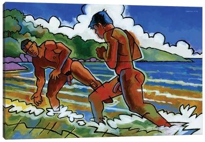 Fight Beach Canvas Art Print