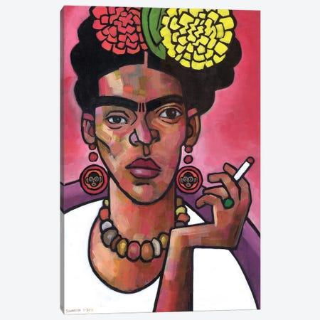 Frida Listening Canvas Print #DSS25} by Douglas Simonson Canvas Wall Art