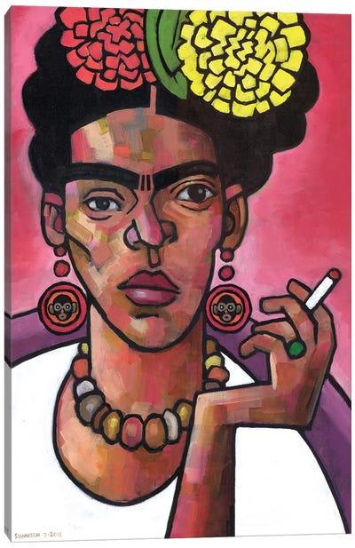 Frida Listening Canvas Art Print