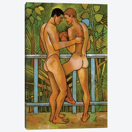 In The Garden Canvas Print #DSS28} by Douglas Simonson Canvas Art Print