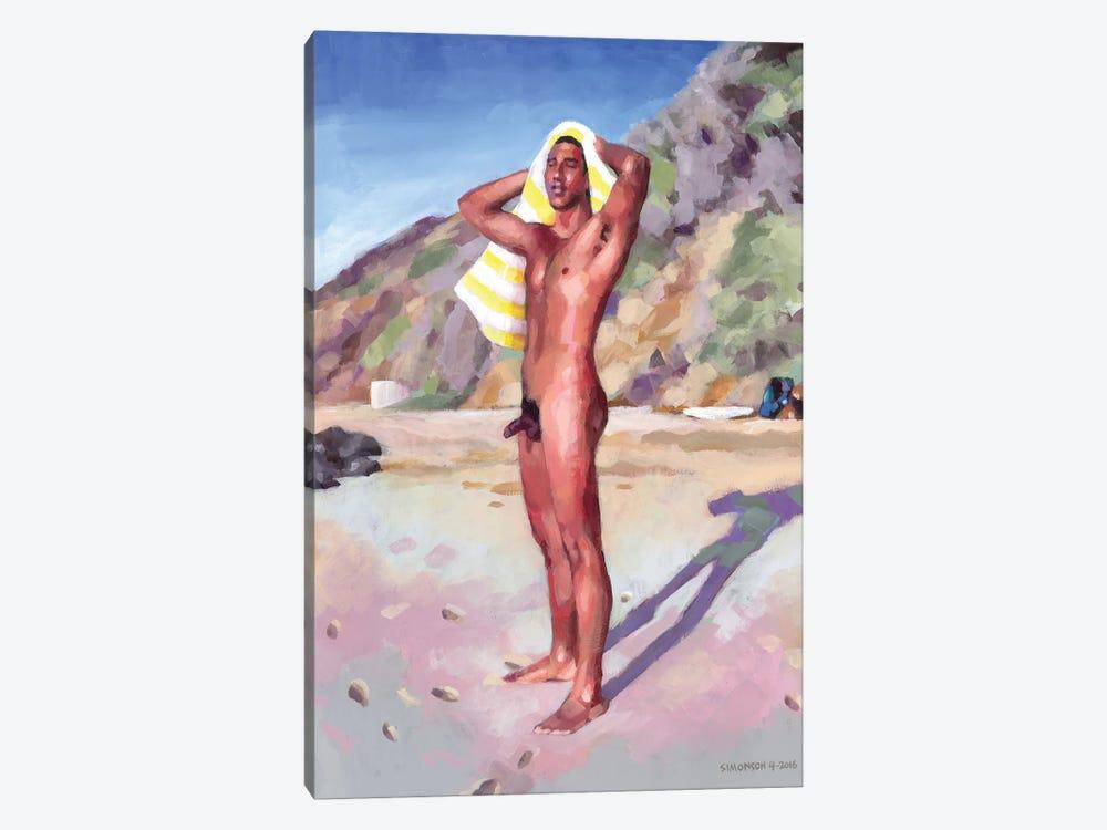 After The Surf Session by Douglas Simonson 1-piece Canvas Print
