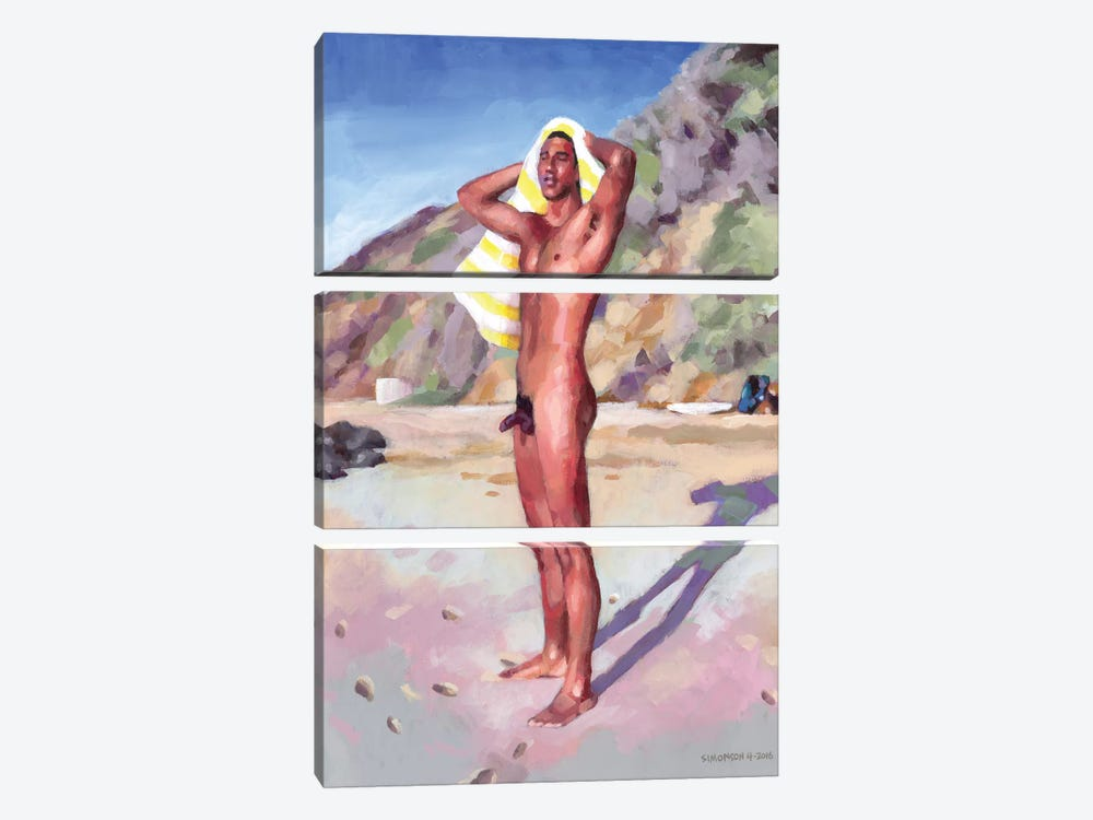 After The Surf Session by Douglas Simonson 3-piece Canvas Art Print