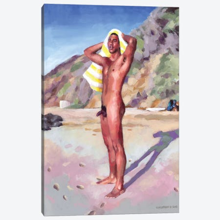 After The Surf Session Canvas Print #DSS2} by Douglas Simonson Canvas Print