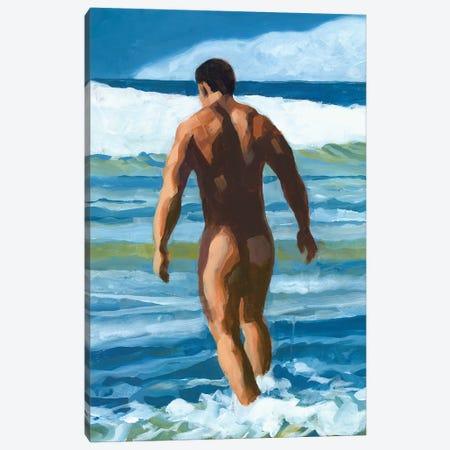 Into The Surf Canvas Print #DSS30} by Douglas Simonson Canvas Wall Art