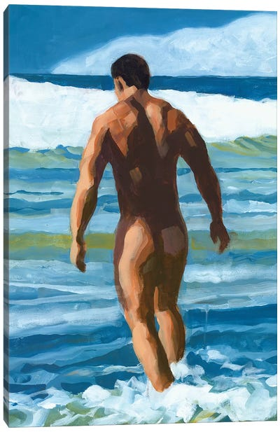 Into The Surf Canvas Art Print