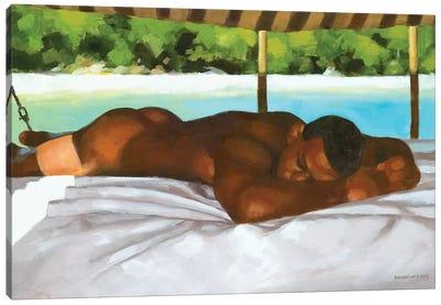 On A Boat In Bahia Canvas Art Print