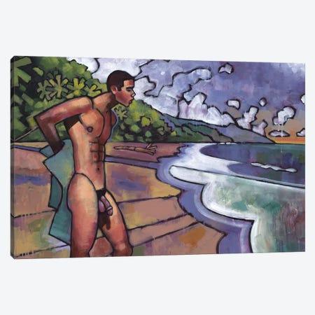 On A Costa Rican Beach Canvas Print #DSS46} by Douglas Simonson Canvas Wall Art