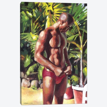Red Speedo Canvas Print #DSS53} by Douglas Simonson Canvas Art