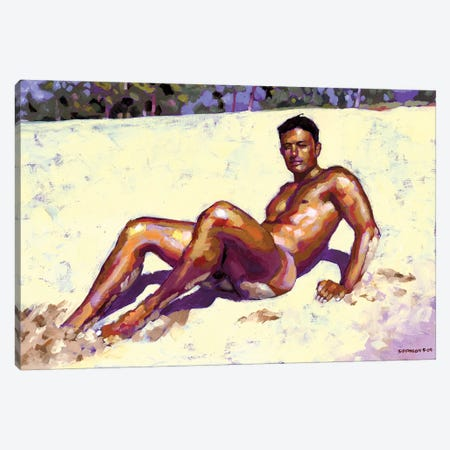 Sandy Bottom Canvas Print #DSS57} by Douglas Simonson Canvas Art Print