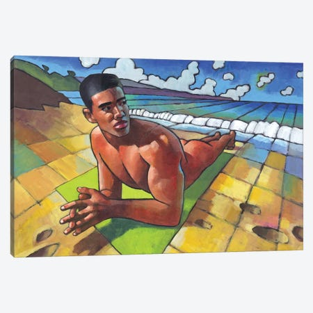 Beach Game Canvas Print #DSS6} by Douglas Simonson Canvas Wall Art
