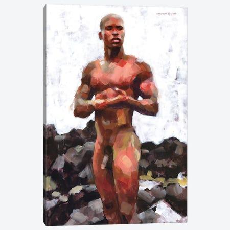 Victor At Rocky Beach Canvas Print #DSS72} by Douglas Simonson Canvas Wall Art