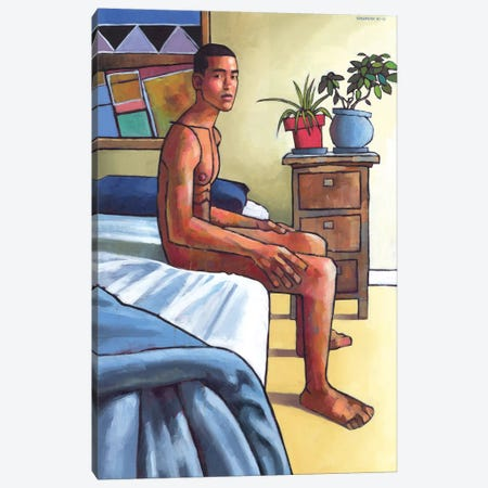 Waikiki Sunday Canvas Print #DSS74} by Douglas Simonson Canvas Art Print