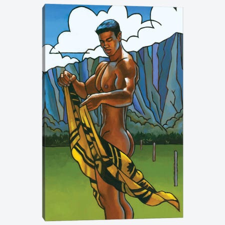Waimanalo Field II Canvas Print #DSS75} by Douglas Simonson Canvas Print