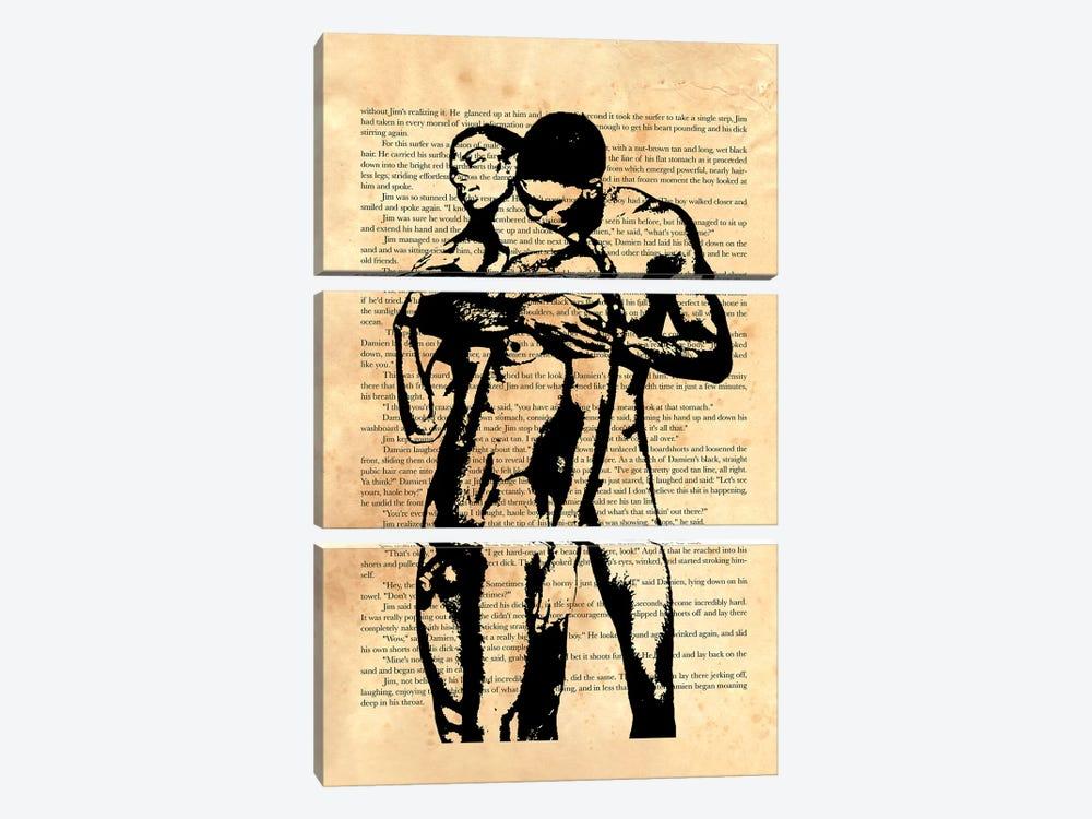 Then He Slipped Off His Shorts by Douglas Simonson 3-piece Canvas Art Print