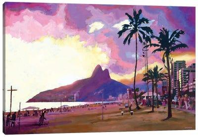 Ipanema Sunset Canvas Art Print