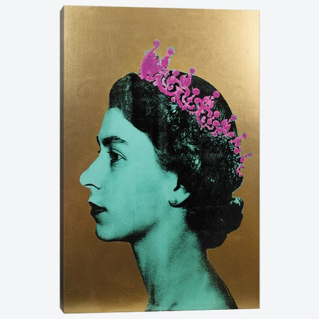 The Queen - Gold Canvas Print #DSU103} by Dane Shue Canvas Print