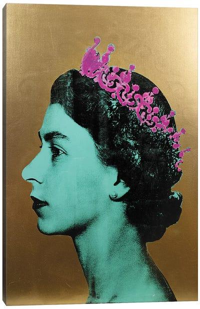 The Queen - Gold Canvas Art Print