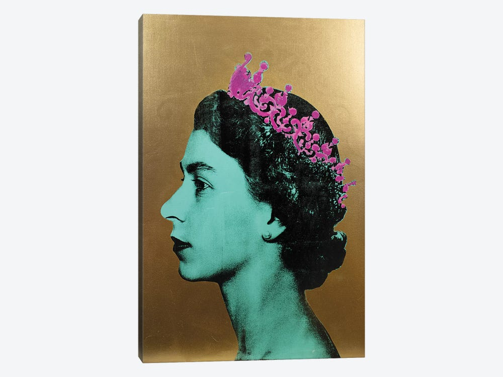 The Queen - Gold by Dane Shue 1-piece Canvas Print