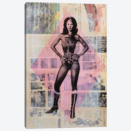 Wonder Woman, Lynda Carter Canvas Print #DSU106} by Dane Shue Canvas Artwork