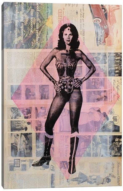 Wonder Woman, Lynda Carter Canvas Art Print