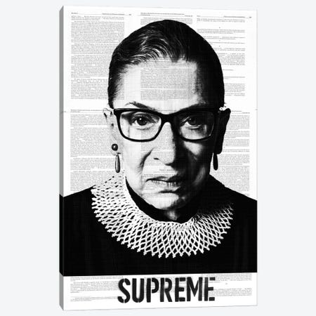 Ruth Bade Ginsburg Supreme Canvas Print #DSU107} by Dane Shue Canvas Art