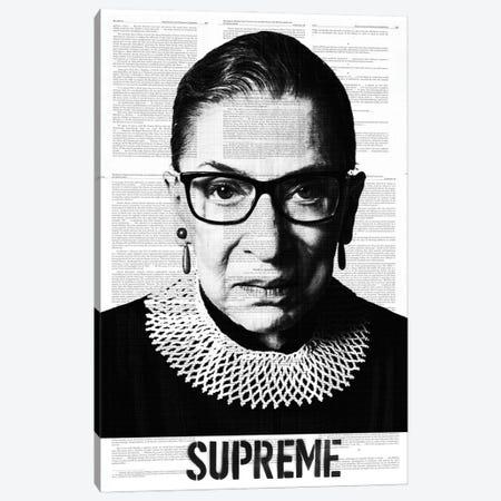 Ruth Bade Ginsburg Supreme Canvas Print #DSU107} by Dane Shue Canvas Art