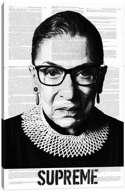 Ruth Bade Ginsburg Supreme Canvas Art Print