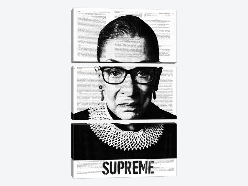 Ruth Bade Ginsburg Supreme by Dane Shue 3-piece Art Print