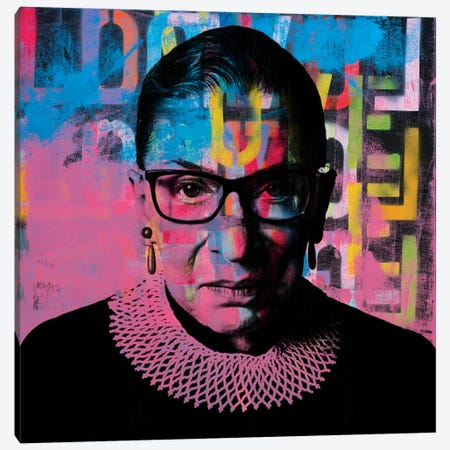 Ruth Bader Ginsburg Rbg Graffiti Love Canvas Print #DSU108} by Dane Shue Canvas Print