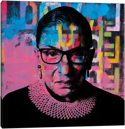 Ruth Bader Ginsburg Rbg Graffiti Love Canvas Art Print