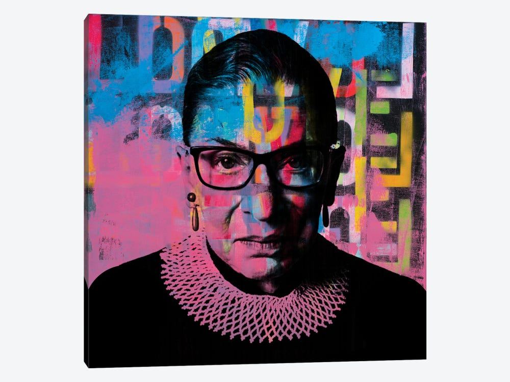 Ruth Bader Ginsburg Rbg Graffiti Love by Dane Shue 1-piece Canvas Wall Art