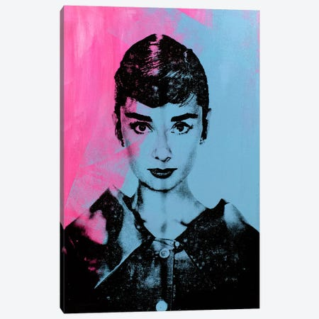 Audrey Hepburn - Blue Canvas Print #DSU10} by Dane Shue Canvas Art