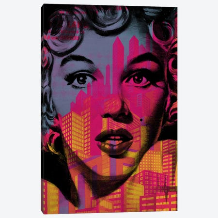 Marilyn Monroe Metro Canvas Print #DSU110} by Dane Shue Canvas Art