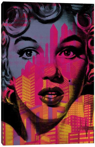 Marilyn Monroe Metro Canvas Art Print