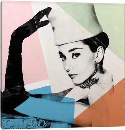 Audrey Hepburn - Geometric Canvas Art Print