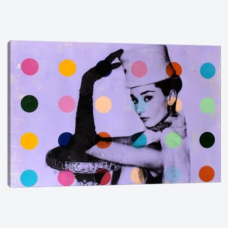 Audrey Hepburn Dots Canvas Print #DSU15} by Dane Shue Canvas Print