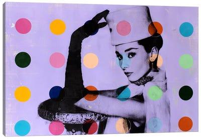 Audrey Hepburn Dots Canvas Art Print