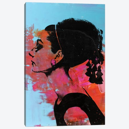 Audrey Hepburn I Canvas Print #DSU16} by Dane Shue Canvas Art Print