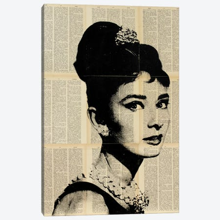 Audrey Hepburn II Canvas Print #DSU17} by Dane Shue Canvas Print