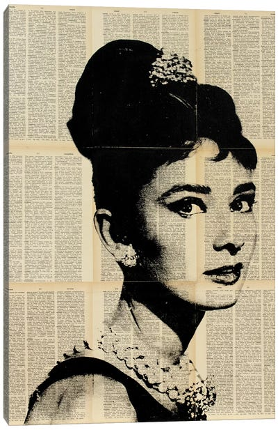 Audrey Hepburn II Canvas Art Print